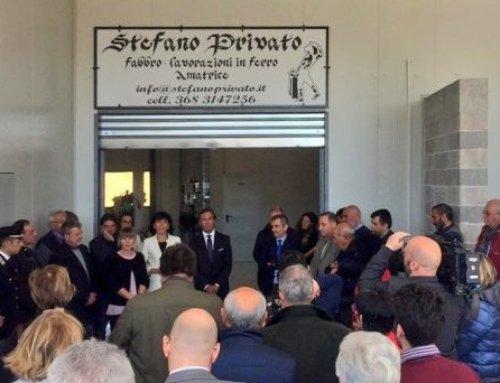 Amatrice: inaugurato il nuovo polo artigianale